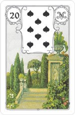 lenormand karten der park madame lenormand. Black Bedroom Furniture Sets. Home Design Ideas